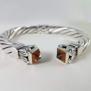 Jewelry - Baltic Amber Sterling Silver Blossom Cuff Bracelet